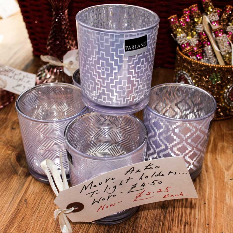 Image of Cooper and Cooper lilac candle holders