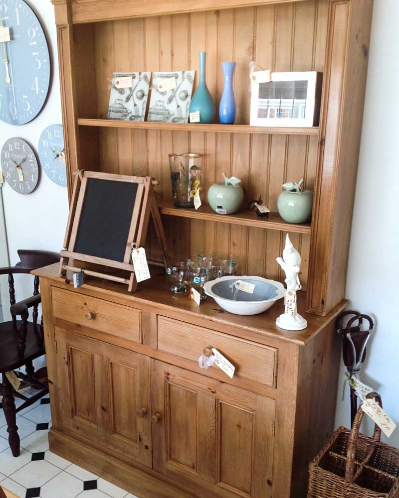 Image of Cooper and Cooper oak kitchen cabinet