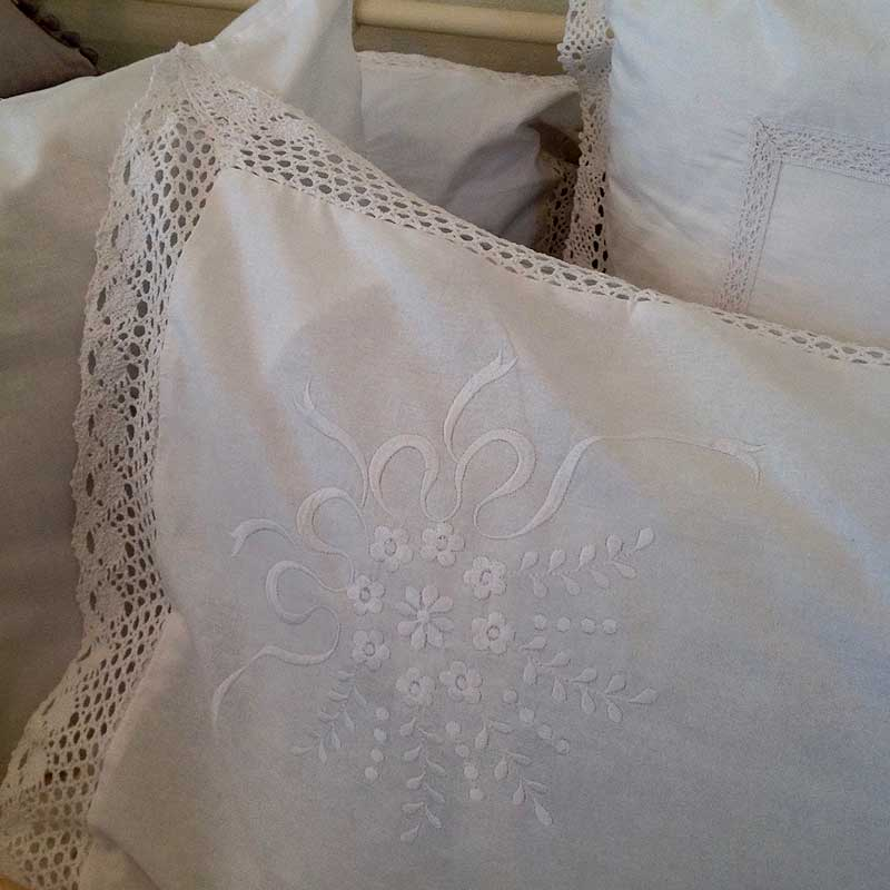 Image of Cooper and Cooper white cushions
