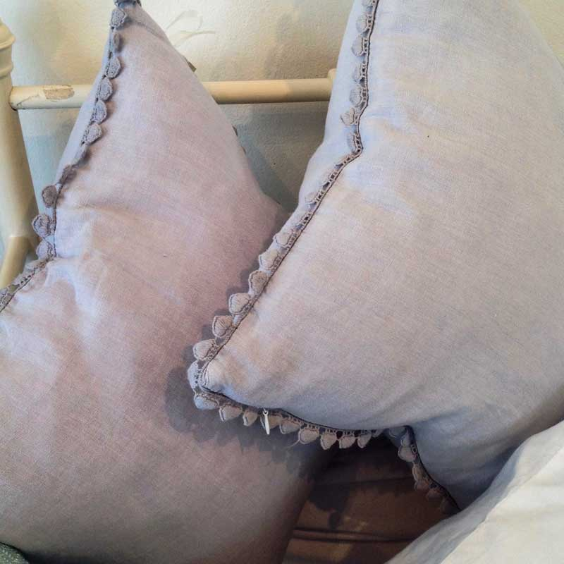 Image of Cooper and Cooper lilac cushions