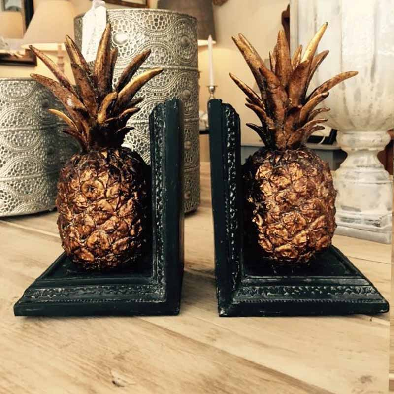 Image of Cooper and Cooper pineapple bookends